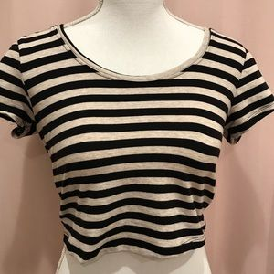 Forever 21 tan and black crop top